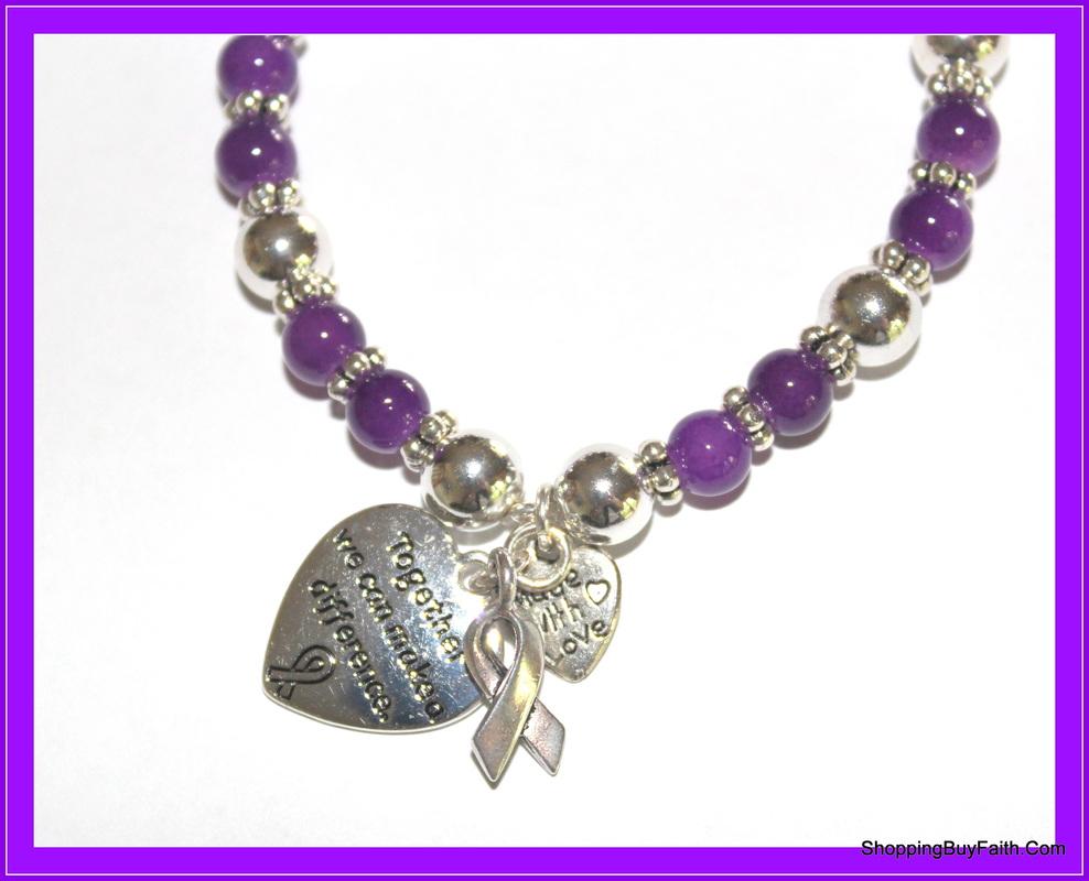 leukemia and lymphoma awareness jewelry items purple