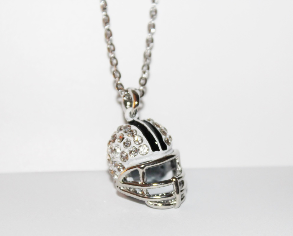 silver steel product necklace stainless zestto pendant football